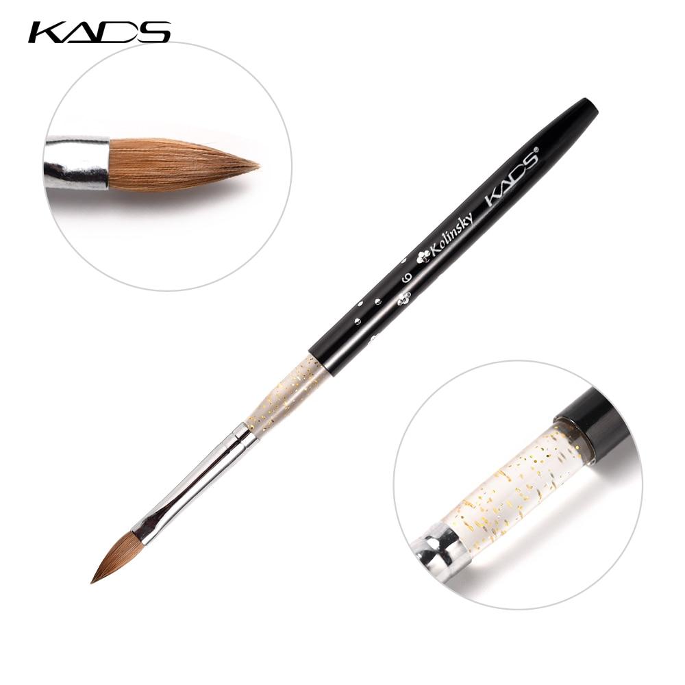 KADS 10PCS Size 6# Professional Nail Art Brush Kolinsky Hair Acrylic Brush Painting Pen For DIY Nail Art Design Painting Tool