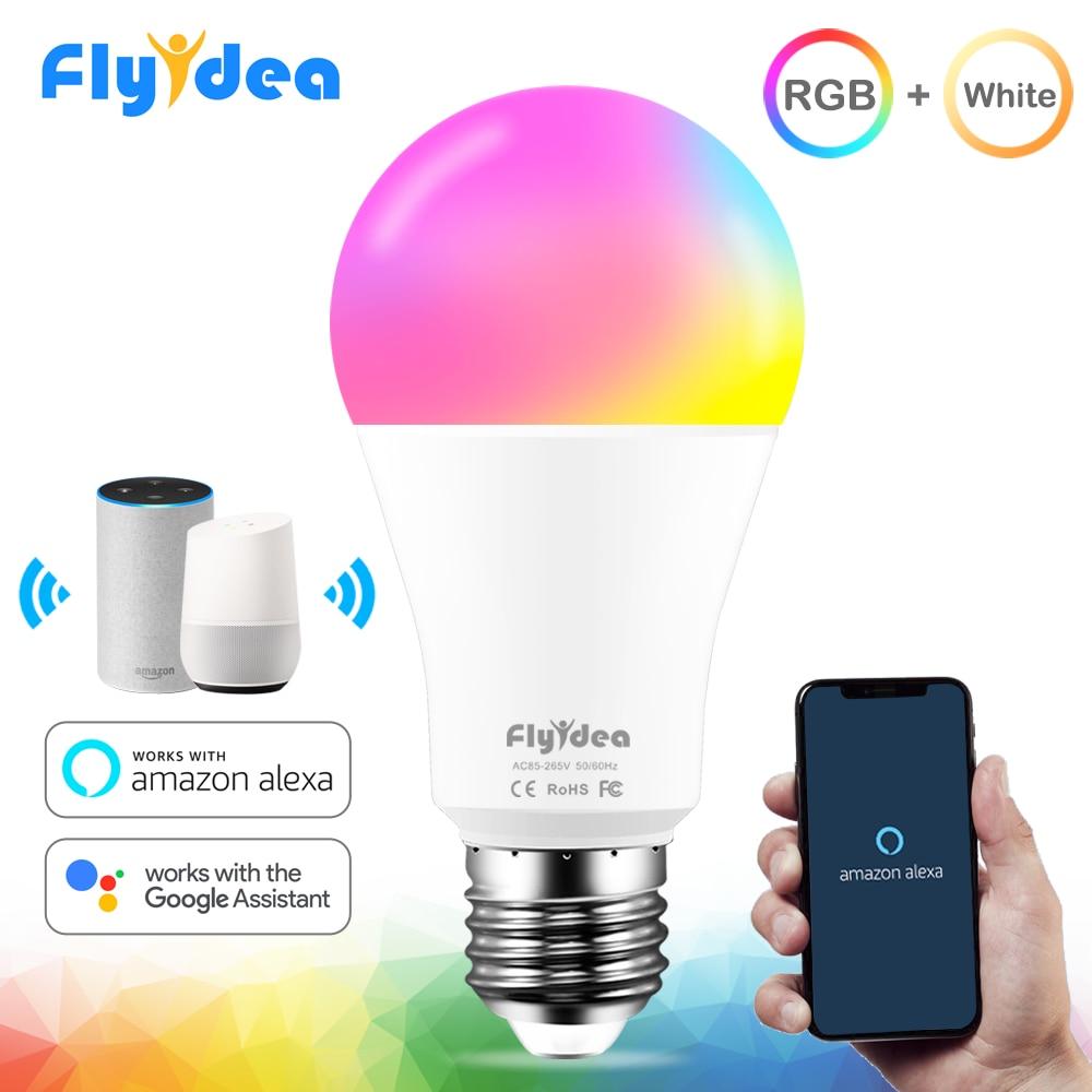 15W Smart Lamp Bulb RGB White 220V Magic Light Bulb 110V LED E27 WiFi Bulbs Timer Function Work Alexa Google Home Smartphone