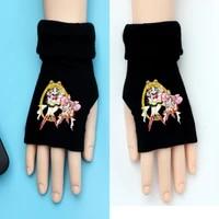 anime half finger gloves fans kids girls autumn winter warm cartoon mittens gift gloves cosplay birthday gift