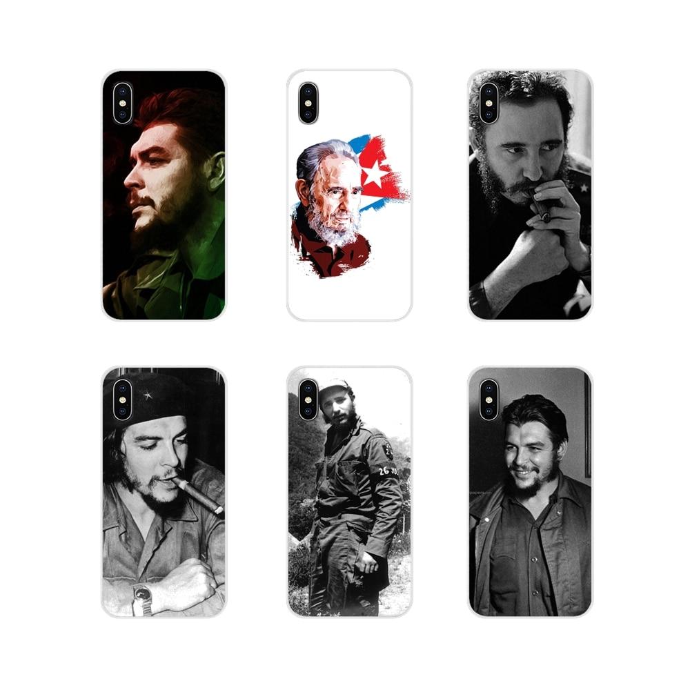 Funda transparente suave bolsa de Cuba, La Habana 1966 Fidel Castro para Samsung A10 A30 A40 A50 A60 A70 Galaxy S2 nota 2 3 Gran Core Prime