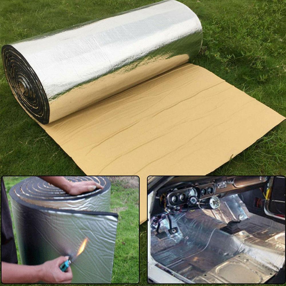 10mm de espessura de alumínio fibra silenciador algodão carro auto fender deadener esteira isolamento térmico som
