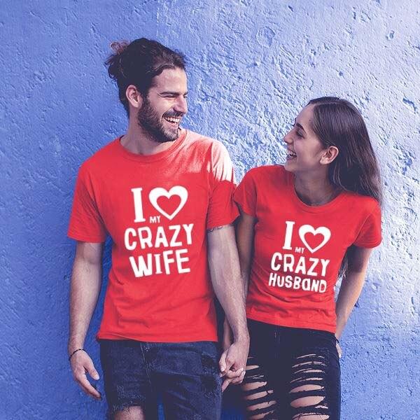 Camisas para parejas, camisas de marido y mujer para parejas, ropa para parejas, ropa para parejas, camiseta de luna de miel, regalo de San Valentín para bodas