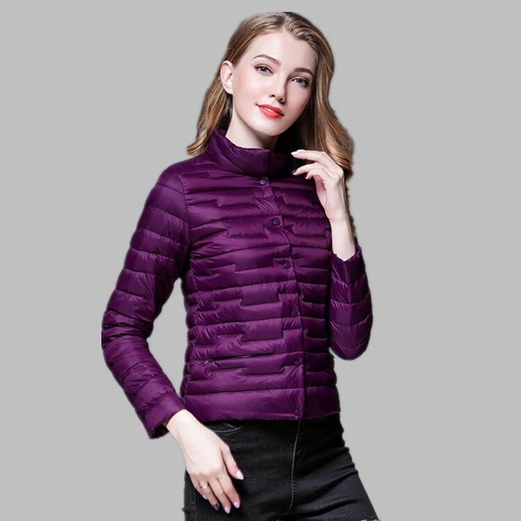 معطف شتوي نسائي ، موضة جديدة ، خفيف للغاية ، ياقة واقفة ، نحيف