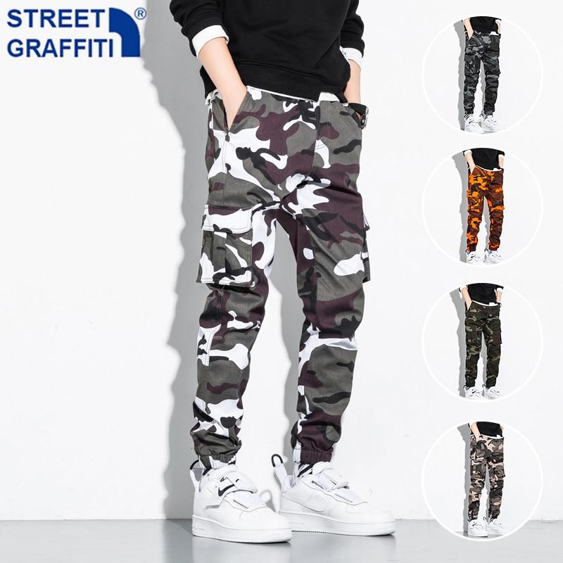 Брюки-карго мужские камуфляжные, уличные тактические штаны в стиле милитари, Повседневная Уличная одежда, штаны с карманами, Хлопковые Штан...