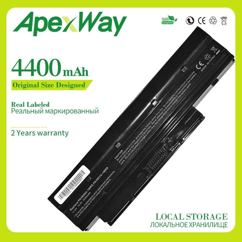 Apexway 4400 mAh batería del ordenador portátil para Toshiba Mini NB500 NB505 NB550D satélite T210 T215 T230 PA3820U-1BRS PA3821U-1BRS PABAS231