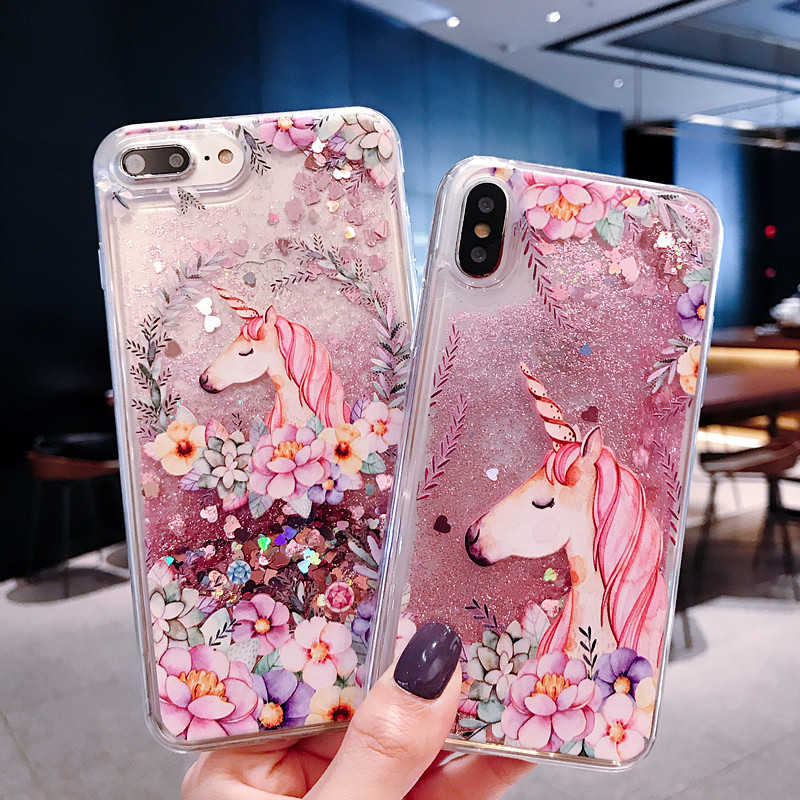 unicorn Quicksand Case For Samsung Galaxy J3 J5 J7 A3 A5 A7 2017 J1 2016 J2 Prime Dynamic Liquid protective Phone Case Cover