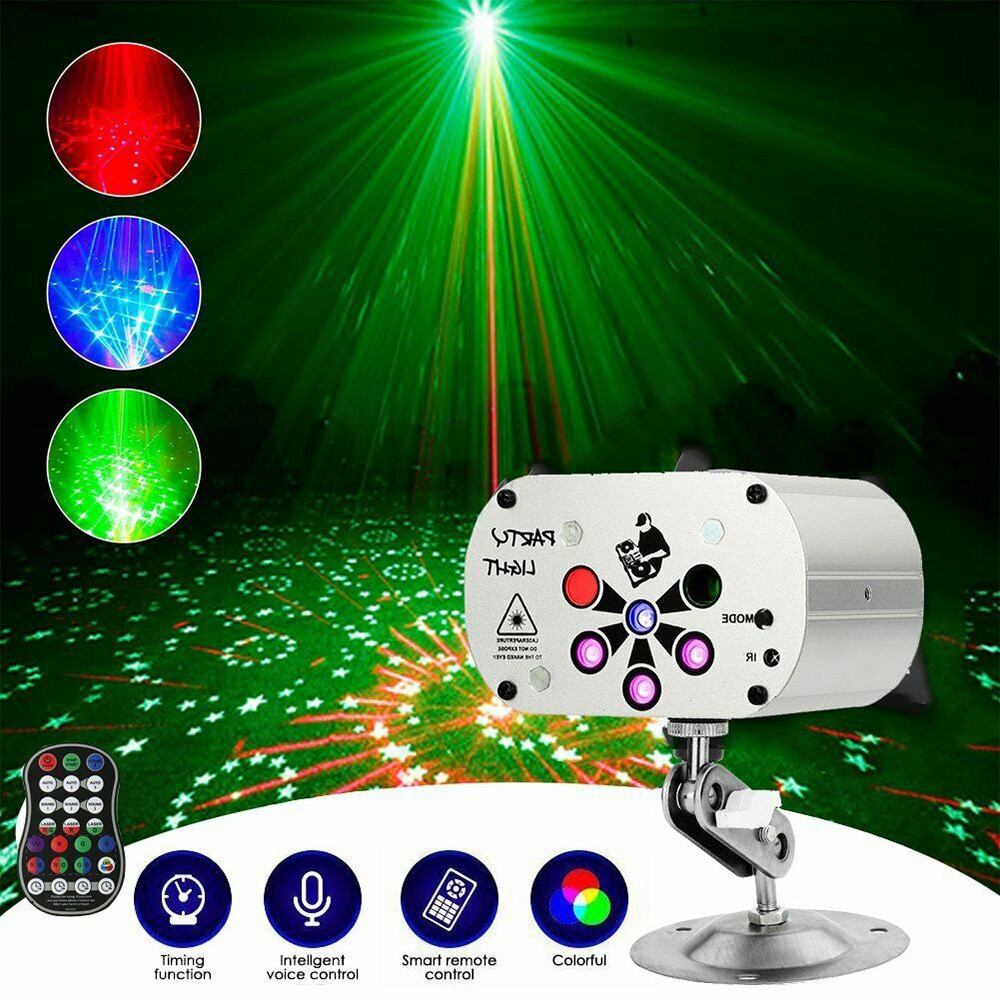 3w usb 5v mini disco ball lamp dj ktv stage light wireless ir remote voice activated lamp home party dance floor rgb light show 128 Patterns RGB Laser Projector Stage Light Portable UV LED USB Recharge Disco Lightting Show for Home Party DJ KTV Dance Floor