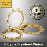 mtb bicycle cassette gold cog 9 10 11 speed golden 11t 12t 13t cogs freewheel part road bike partsk 12v mountain bikes kit