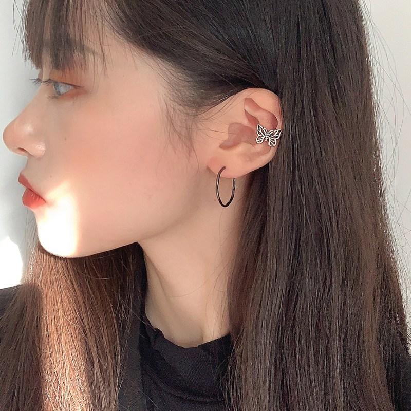 Fashion vintage metalen holle vlinder oor clips voor vrouwen en - Mode-sieraden - Foto 3