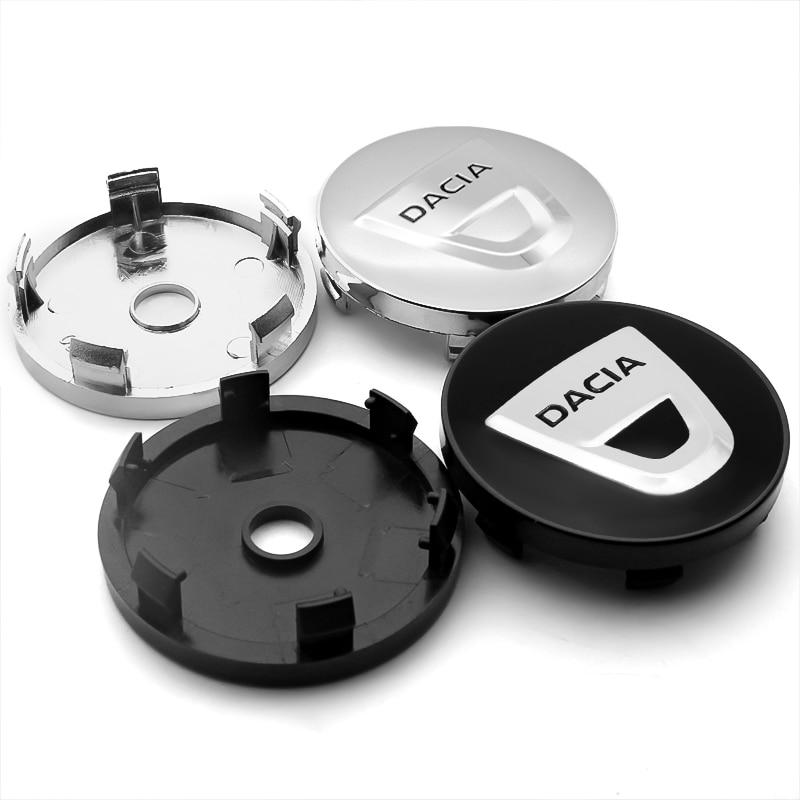 4 pces 56/60mm centro da roda do carro hub tampas emblema adesivo decalque roda duster duster duster logan sandero 2 mcv sandero