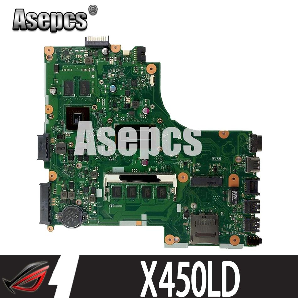 Asepcs X450LD اللوحة الأم لأجهزة الكمبيوتر المحمول Asus X450LD X450LC X450LB اختبار اللوحة الرئيسية الأصلية 4G RAM I3-4030U/i3-4010U