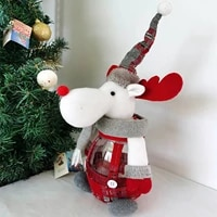 luminous christmas candy jars santa snowman deer doll cute sugar box gift
