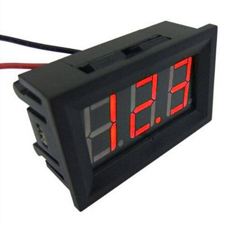 Mini 0.36in dc 2.4 v-30 v 2-wire led display digital painel bateria voltímetro