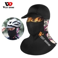 west biking winter warm cycling cap men women sport scarf balaclava neck warmer ski bicycle motocycle running head cap bike hat