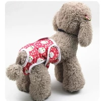 1pc pet female dog puppy diaper pants nappy physiological sanitary soft breathable blended panties underwear