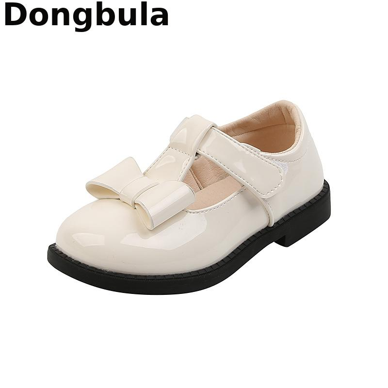 Children's Leather Shoes Fashion School Shoes For Girls Spring Autumn Footwears For Girls Kids Princ