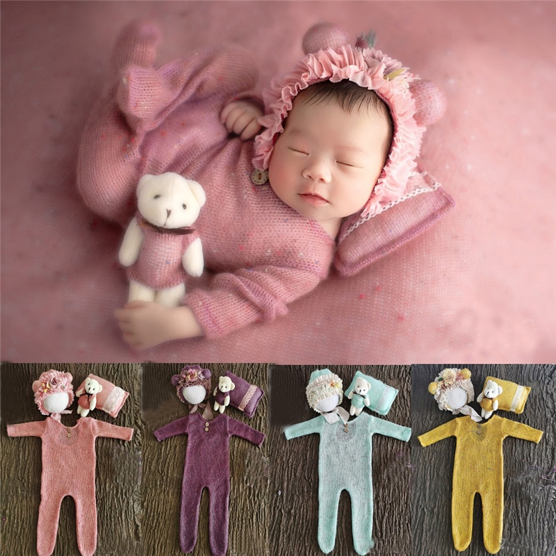AliExpress - 0-1 Month Newborn Photography Props Hat Baby Boy Girl Romper Bodysuits Outfit  Photography Baby Studio Shooting Props Clothing