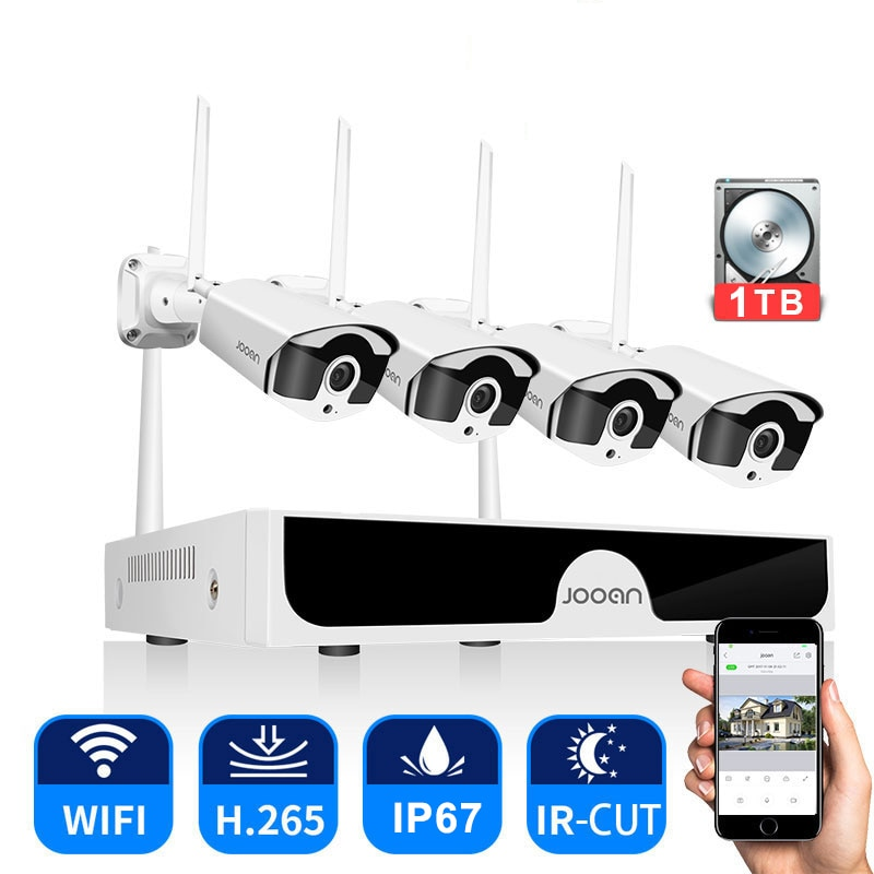 CCTV System Wireless Surveillance System Kit 3MP Home Security Camera System Outdoor WIFI Cameras Se