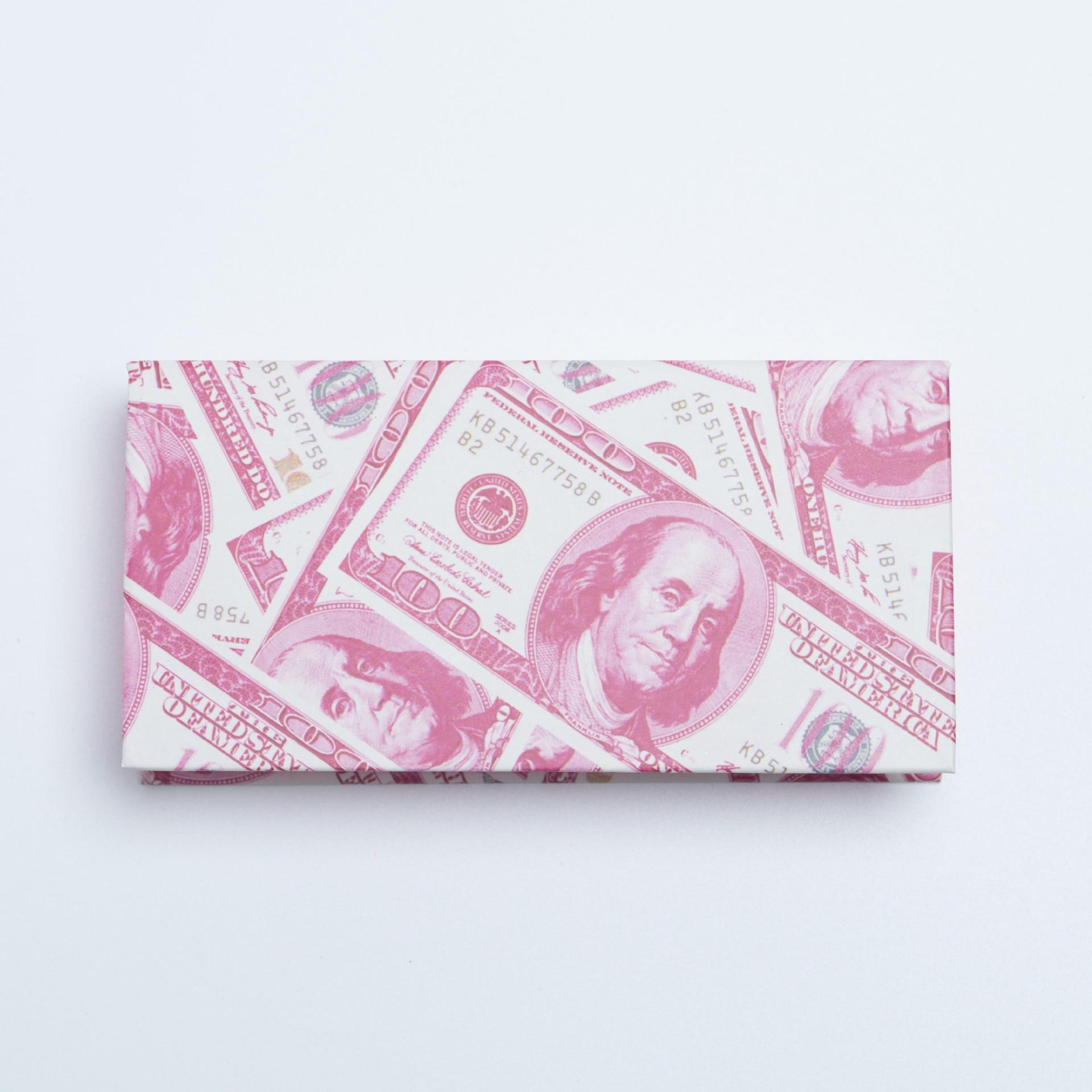 50PCS Hot Sale Mink Fake Eyelashes US Dollar Package Box Stock Wholesale Lash Box