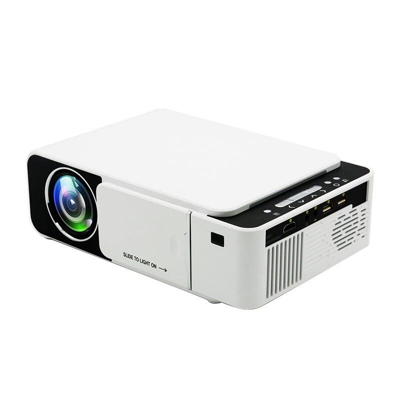 T5 portátil led projetor 4 k 2600 lumens 1080 p hd vídeo projetor usb hdmi beamer para cinema em casa opcional wi fi projetor t6