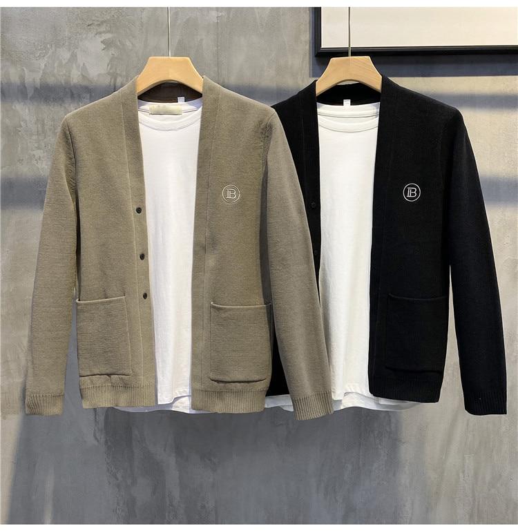 Осенняя трикотажная куртка QIWN, мужской свитер, повседневная трикотажная одежда, ветровка, куртка, ветровка, мужская куртка, зимняя куртка