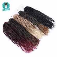 Luxus für Flechten 18 zoll 24 strands/pack Vor Geschleift Häkeln Zöpfe Synthetische Ombre Leidenschaft Twist Flechten Haar