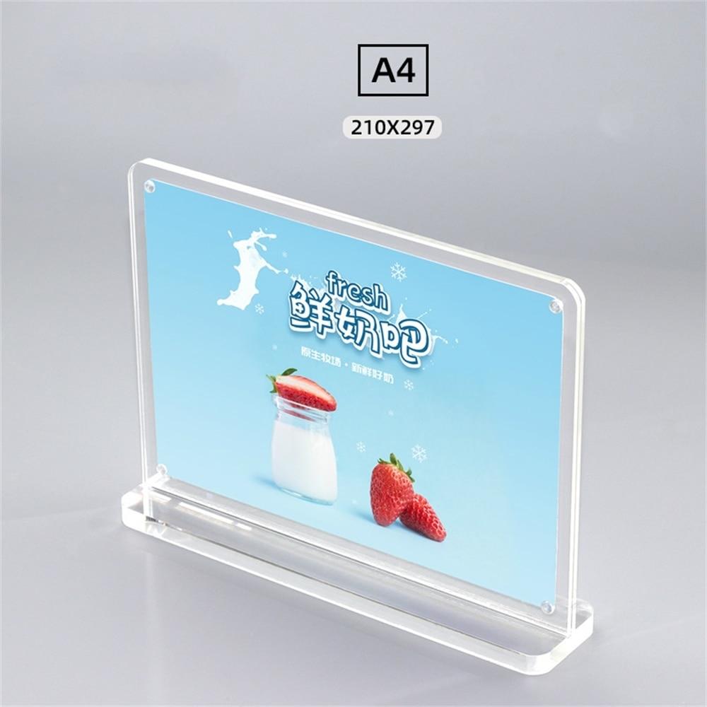 210*297 мм акриловый магнитный держатель знаков, прозрачный Плакат, картина, меню, рекламный стенд
