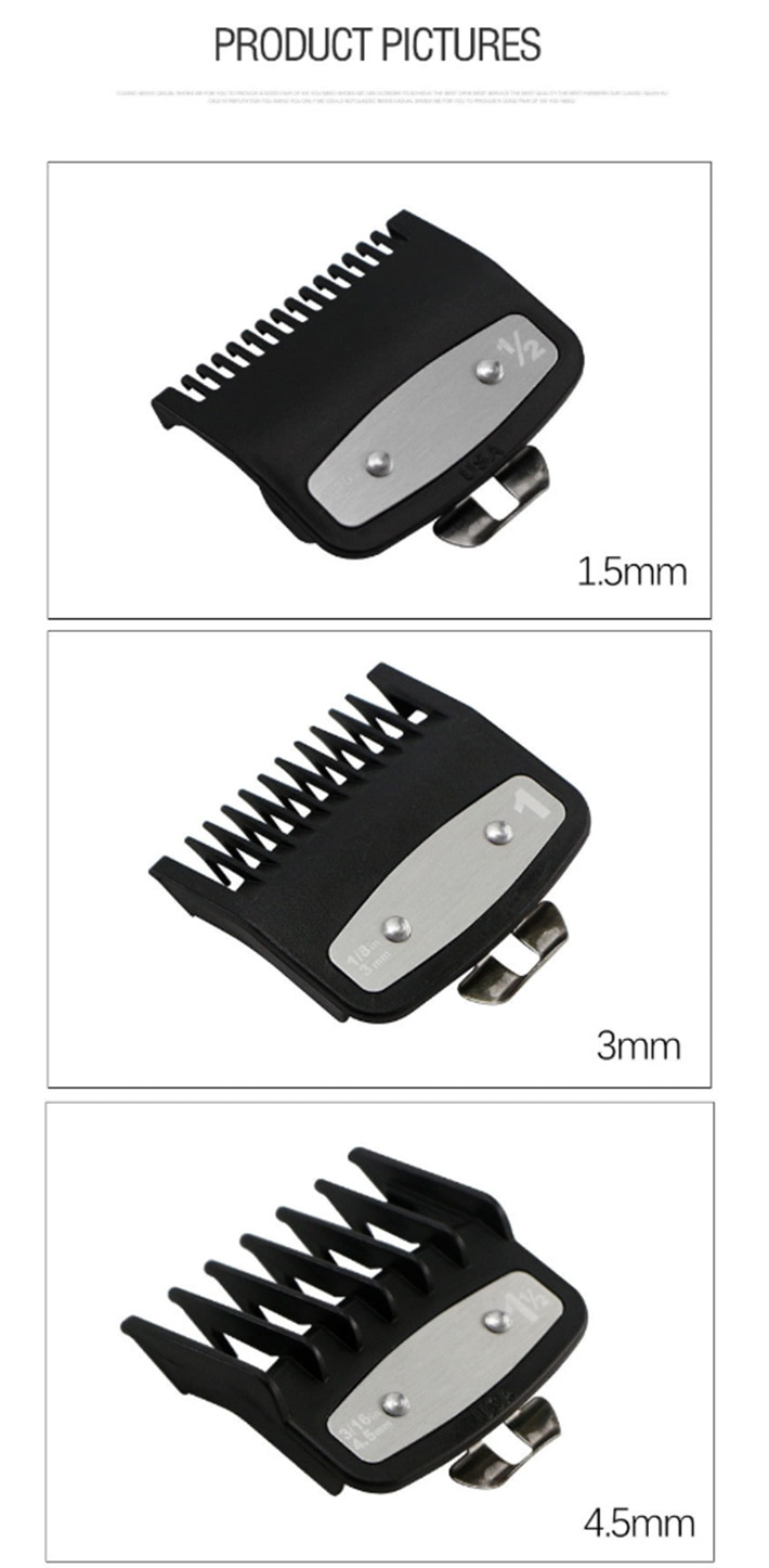 10Pcs/Set Universal Hair Clipper 1.5/3/4.5/6/10/13/16/19/22/25mm Limit Combs Electric Clipper Positioning Comb Replacement Tools enlarge