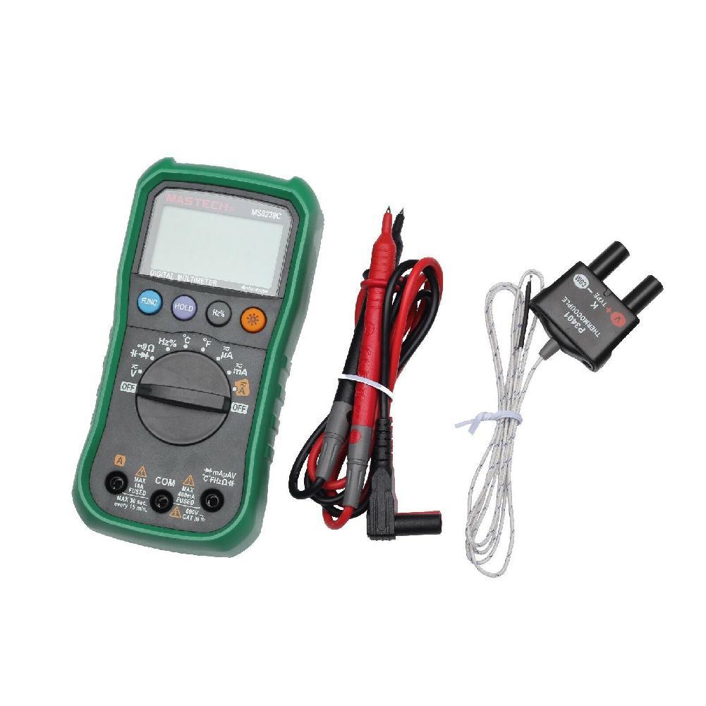 MeterMall MASTECH MS8239C Цифровой Авто Диапазон мультиметр AC DC напряжение тока тестер