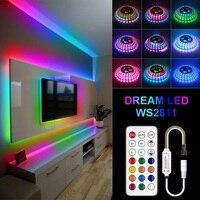Bluetooth Dream светодиодная ленсветильник 2811 RGB Dc12 Гибкая индивидуально Адресуемая 5 м 10 м 15 м 20 м умная светильник вая Лента светодиодная лента
