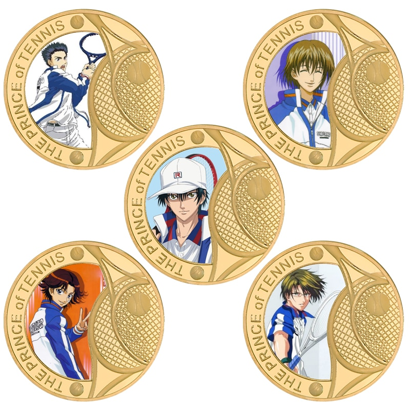 Wr tenipri ouro chapeado desafio moeda com titular japonês moedas originais anime collectibles presente de natal dropshipping
