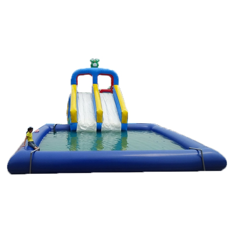 Commercial PVC Mesh Cloth Inflatable Water Slide Giant Inflatable Swimming Pool Playground For Kids And Adult Outdoor Fun Play
