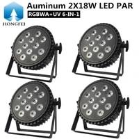 4pcs aluminum 12x18w led par light rgbwauv 6 in 1 par disco light professional dj equipment