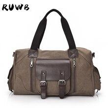 RUWB High Quality Leisure Shoulder Bags Mens Canvas Tote Bag Casual Large Capacity Handbag Simple Fashion Man Messenger Bag