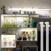 Phytolamp для растений таймер 3200K растут светильник полоски Фито лампа светодиодный бары для комнатных растений цветы рассады Мощность адаптер ...
