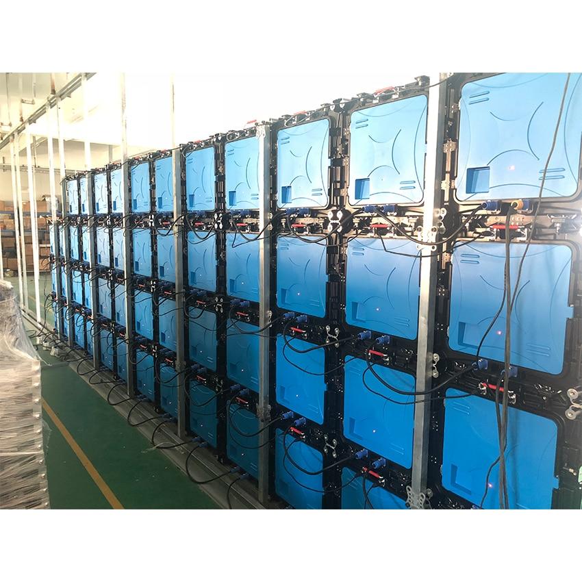 لوحة عرض ألمنيوم P3mm داخلية ، علامة مصفوفة LED 576x576 مللي متر ، شاشة ملونة كاملة ، للتأجير