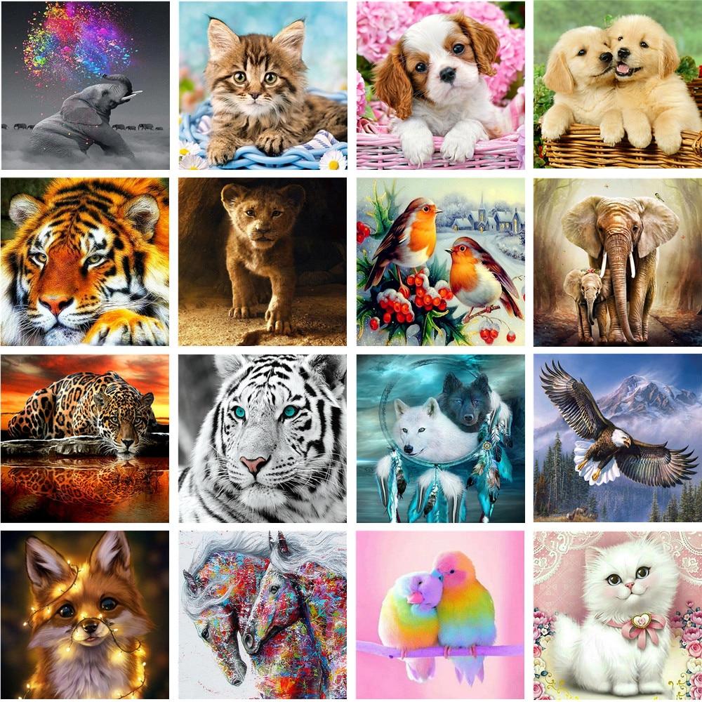 Pintura de diamantes 5D, bordado completo de diamantes, decoración del hogar, bordado de regalo de animales de dibujos animados