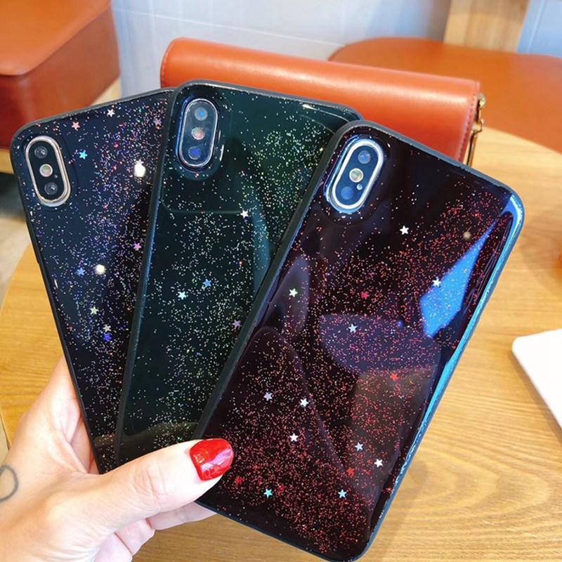 Epoxy Starry Sky Dark Green All-inclusive Anti-fall Soft Case for iphone 11 11Pro 11Pro Max 6 6s 7 XS Cover