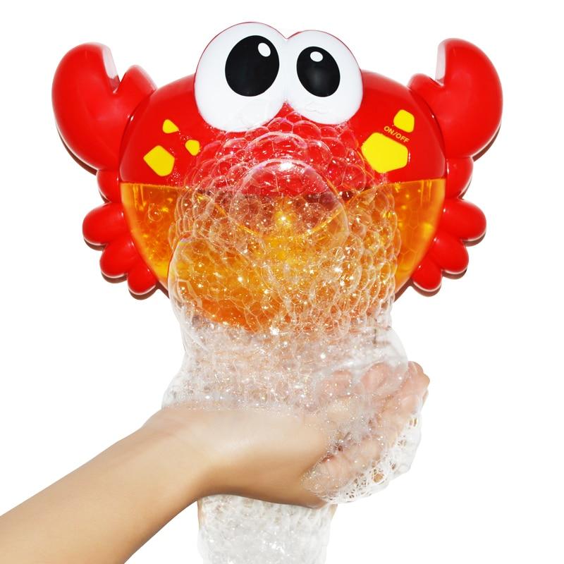 Bubble Crabs Baby Bath Toy Funny Toddler Bath Bubble Maker Pool Swimming Bathtub Soap Machine Bathroom Toys for Children Kids