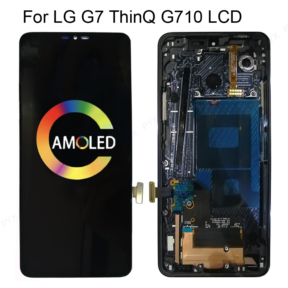"""6.1""""ORIGINAL For LG G7 ThinQ LCD Touch Screen Digitizer Assembly For LG G7 G710EMW Display with Frame Replacement G7+ Lcd Screen enlarge"""