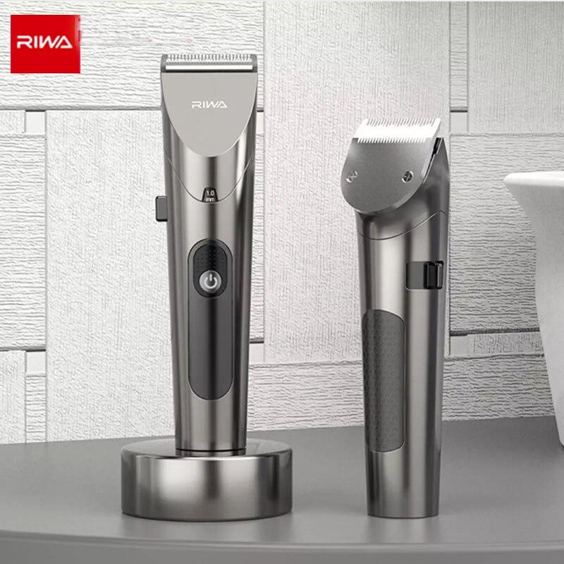 riwa aparador de cabelo e barba profissional tela led lavavel maquina de cortar cabelo