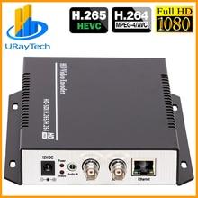HEVC H.265 H.264 SD HD 3G SDI à IP en direct codeur vidéo codeur Audio avec HTTP RTSP RTMP UDP ONVIF RTMPS