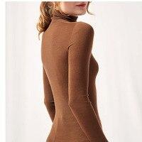 Tops Turtleneck Pullovers Casual Sweaters Knitted Jumper Winter  Women Shirt Long Sleeve Jo2058pfu