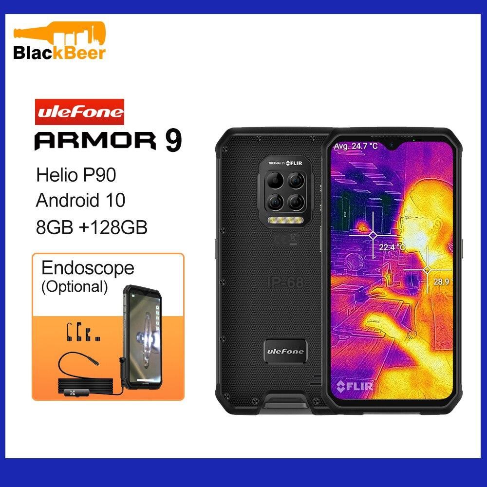 Перейти на Алиэкспресс и купить Ulefone Armor 9 Android 10 Мобильный телефон Helio P90 восьмиядерный смартфон IP68/IP69K прочный мобильный телефон тепловизионная камера 6600mA