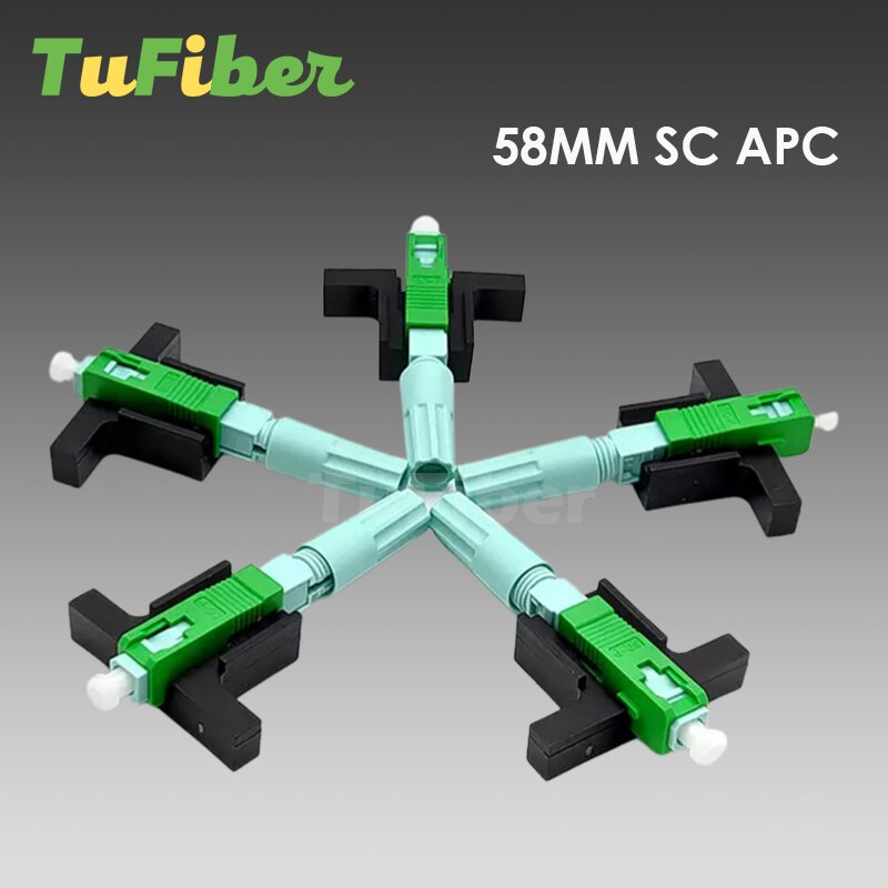 100/200Pcs SC APC UPC Fast Connector Single-Mode Connector FTTH Tool Cold Connector Tool Fiber Optic Fast Connector 58mm