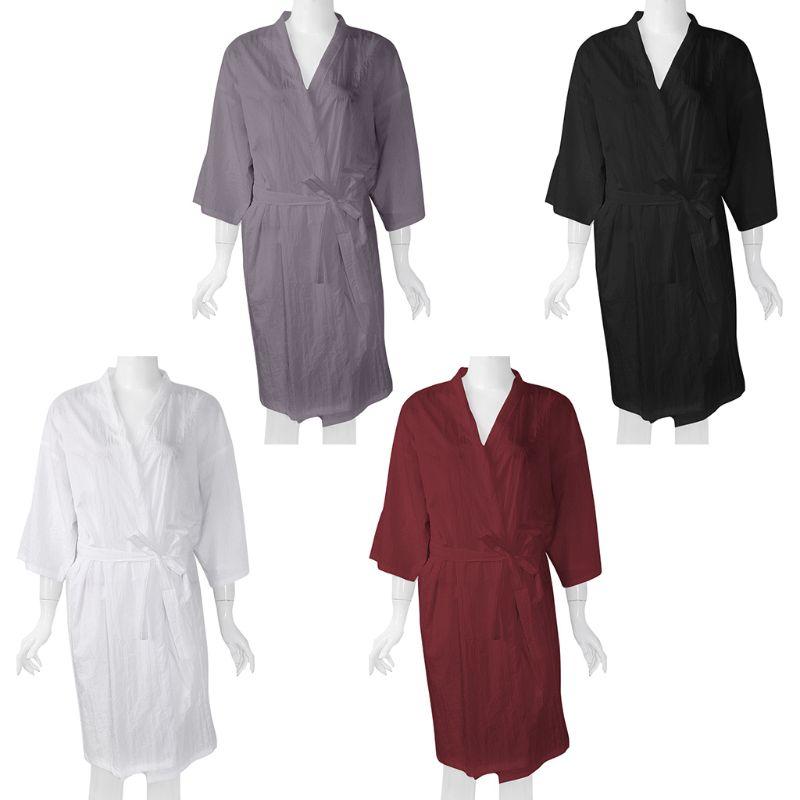 Salón cliente bata Vestido ligero de secado rápido Kimono bata capa vestido tinte para el cabello champú maquillaje cliente ropa estilo uniforme
