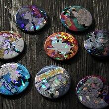 Broche de motosierra de Anime para hombre, accesorio de Cosplay, Makima Pochita, Pin de insignia reflectante