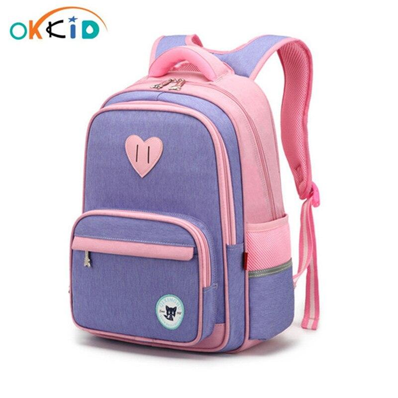 Милый школьный ранец OKKID для девочек, Детский рюкзак для учеников начальной школы, новогодние подарки для девочек, оптовая продажа   Багаж и сумки   АлиЭкспресс