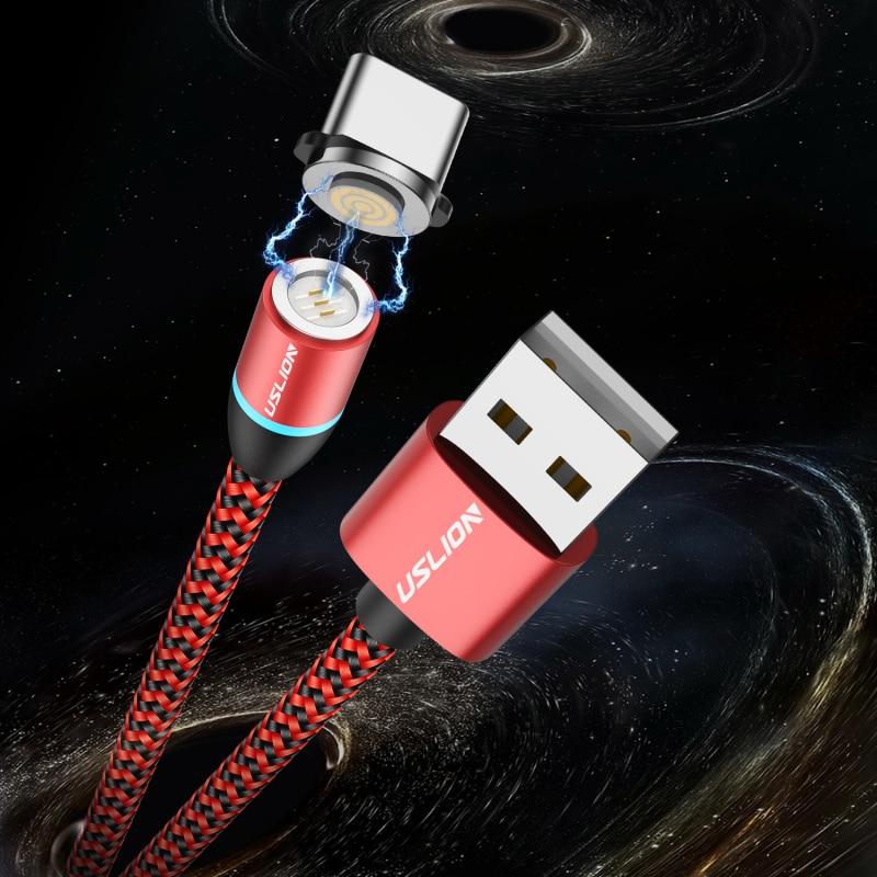 1 unidad de Cable Micro USB magnético TYPE-C para Android, cargador magnético de carga rápida, Cable USB tipo C, Cable de teléfono móvil