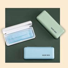 Masque boîte de rangement sac disolement étudiant enfant adulte mettre petite boîte artefact Case support de téléphone portable support Containe blanc, vert, bleu